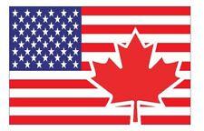 USA Canada Flag Sticker F706