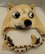Cute Dog Animal Handmade Knitted Doge Hat Women's Winter Warm Cap Gift