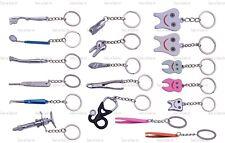 18 Assorted Dental Lab Molar Tweezers Key Chain/ Ring Dentist Gift Hand Piece