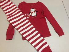 NWT Gymboree Girls Gymmies Red Penguin Pajama Set Christmas Holiday 6,7