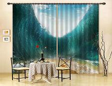 3D Klare Wellen 526 Blockade Foto Vorhang Druckvorhang Vorhänge Stoff Fenster DE