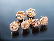 1 Paar Ohrstecker 925 Sterling Silber Rosegold Vergoldet Zirkonia Damen Ohrringe