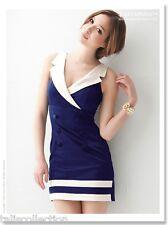 Joanne Kitten 1960's Classic Sailor Style Party Dress in Blue & White JK-0901