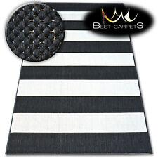 moderne sisal Tapis noir lignes' plat 'pratique Uni tissé à facile à nettoyer