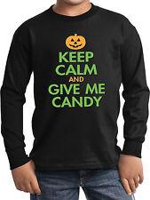 Kids Halloween Keep Calm Give Me Candy Long Sleeve T-Shirt
