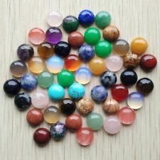 10mm Natural Gemstone Cabochons | Mixed Pack or Single Gemstone Pack | 50pcs