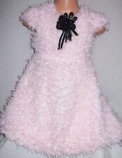 Filles Rose clair Moelleux Doux Ours En Pluche Fourrure Hiver Occasion Spéciale Robe de soirée