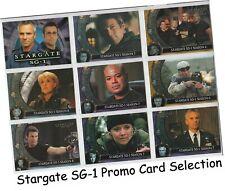 Stargate SG-1 - Promo Card Selection - Season Premiere 4 5 6 7 8 9 10 Heroes