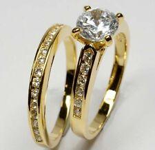 GOLD DOUBLE *** Zirkonia 2er Zweier- Doppel-Ring  vergoldet, Größenauswahl