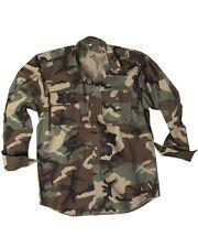 Chemise de Combat Ripstop Woodland, Camouflage Chemise, Swat, Paintball -nouveau