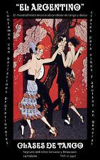 TANGO Dance Poster.Bar Decor.Argentina art.Escuela de baile.Interior design.08i