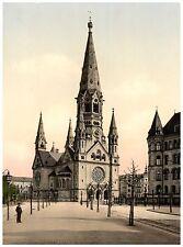 Berlin Kaiser Wilhelm Gedächtniskirche ca. 1890 Papier Leinwand