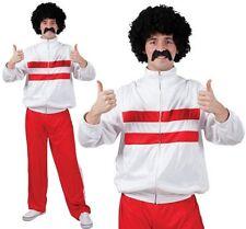 UOMO ANNI 80 1980s Tuta costume scouser O 118 vestito rosso NUOVO W