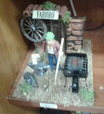 Fabbro pastore in movimento 7 cm presepe crib Shepherd