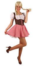 Oktoberfest Dirndl Kostüm Resi braun-rot-weiß Trachtenkleid Damen Dirndl KK