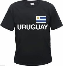 URUGUAY T-Shirt - schwarz mit Flagge Druck - S bis 3XL - montevideo südamerika