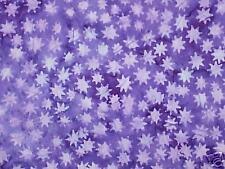 Hoffman BATIK QUILT FABRIC ~ Stars on Purple