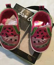 Sam Edelman Baby Slip On Watermelon Shoes Crib Red Green 3-6-9 Months Girls