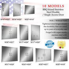 Access Door for Outdoor Kitchen Single Double Door BBQ Island Stainless Steel