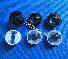 60° 90° High Power LED lens 23mm convex pmma led lens with black/white holder