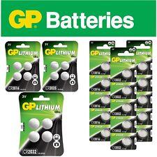 GP cr2016 cr2025 cr2032 lr54 pile bouton cellules 1,5-3v volts blister