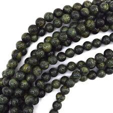 "Green Kambaba Jasper Round Beads Gemstone 15"" Strand 4mm 6mm 8mm 10mm 12mm"