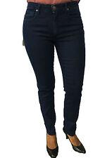 BLUE LUXURY jeans donna blu vita alta fondo cm 17 mod PUSH UP MADE IN ITALY
