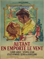 PLAQUE ALU REPRODUISANT UNE AFFICHE FRANCE AUTANT EN EMPORTE LE VENT 1939