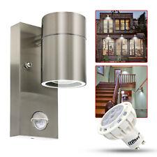 LED PIR Outdoor Wall Light Stainless Steel Movement Sensor Security Lamp IP44 UK