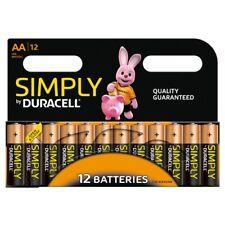 12 x Duracell Alkaline Batteries AA - AAA - 8x JCB Pencil R6 Battery