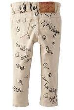 $99 NEW True Religion Baby Girls Infant Casey Cream Leggings Jeans 6-12 Months