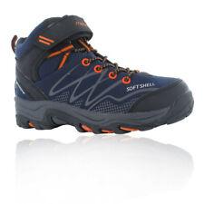Hi-Tec Junior Blackout Mid Walking Shoes Blue Sports Outdoors Trainers