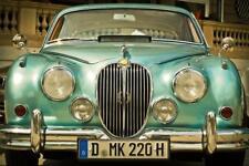 Jaguar Mark 2 Classic Car Art Canvas Poster Print Photo Automotive