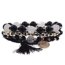 New Multilayer Women Bohemian Charm Pendant Beads Bracelet Jewelry Tassel Bangle