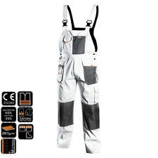 Profi Boiler Suit White Grey Paint Trousers Mason's PANTS Painter's Overalls