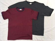 Mens shirt Black Red crew small 34 36 Medium 38 40 Large 42 44  XL 46 48 New