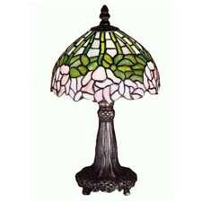 "Meyda Lighting 13""H Cabbage Rose Mini Lamp, Purple/Blue Pink 59 - 30312"