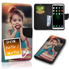 Personalisierte Book Handy Tasche Wallet Flip Hülle Cover Etui Case Dein Design