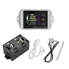 Wireless 0-300A 0-400V Color LCD DC Voltage Ammeter Power Meter Watt Tester ark