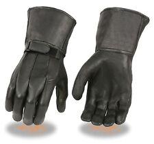 Men's American Deerskin Police Style Gauntlet Glove w/ Wrist Strap SH864