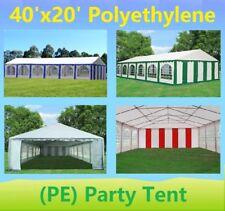 40' x 20' PE Party Tent - Heavy Duty Carport Canopy Car Shelter - Color Tents