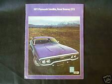 1971 Plymouth Satellite, Road Runner, GTX, Showroom Brochure