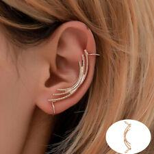 Popular Womens Mens Punk Ear Cuff Earrings Wrap Clip On Cuffs Fake Stud Earrings