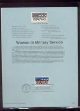 #3174 32c Women in Military  #9729 Souvenir Page