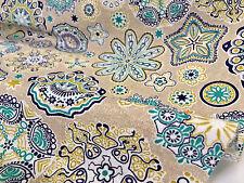 Aquarius Flor Mandala estrellas material de cortina de tela impresión HIPPY ANCHO 55' Azul