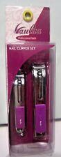 Vaulua Professional Tools Nail Clipper Set, Purple or Black, New, Free Shipping!