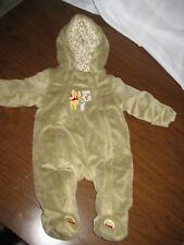 Winnie the Pooh Disney Baby Snowsuit Bunting 3-6 M Tan
