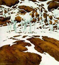 "**Bev Doolittle ""PINTOS""-WSS Print-Camoflauge-Horse-Ponies-Paint-Indians-Art**"