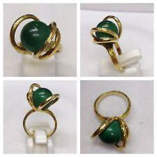 COLPISCE ANELLO ORO 585er anello d'oro con Malachite malachitring