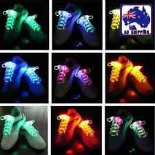 Olive Shape LED Flash Luminous Shoelace Sport Sneaker Shoe Laces Party CSLA366